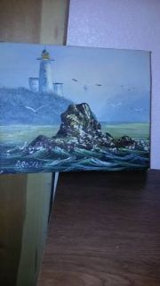 8 x 10 seascape signed oil painting