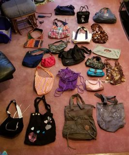 Purses, book bags, lunch boxes, make up bags