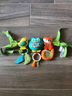 Cars seat activity toy