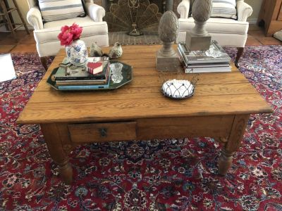 Solid wood coffee table payed 500 asking 175