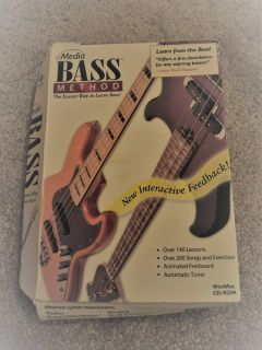 Bass Guitar instructional software (Brand New)