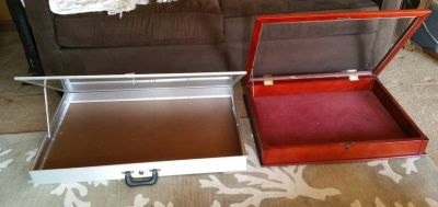 2 Nice LARGE Vendor/Store Locking Display Cases