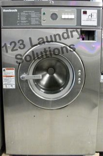 Coin Operated Huebsch Front Load Washer 208-240v Stainless Steel HC27MD2OU40001 Used