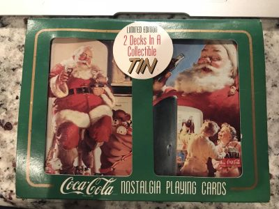 Tin of Coca-Cola playing cards