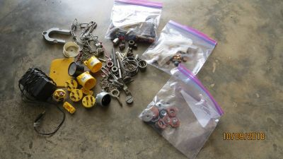 Variety of Stuff - Washers Electrical Wall Anchors Spacers Chain Pressure Gauge