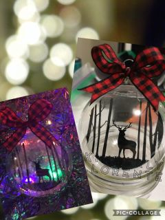 Buck in the Woods floating ornament with box