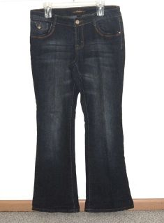 Womens 14 Southpole Flare Denim Jeans Stretch Dark Blue Wash