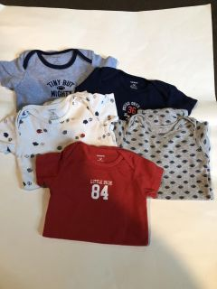 Carter s Lot Of 5 Sports Onesies