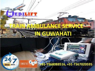 Hired Economical Fare Train Ambulance Service in Guwahati by Medilift
