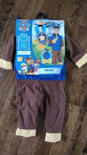 Paw Patrol Chase costume NWT 2T-3T