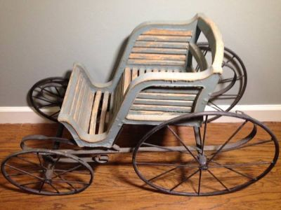Historic Wood and Iron Carriage From John G Trump Estate