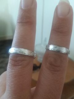 His and hers rings Silver