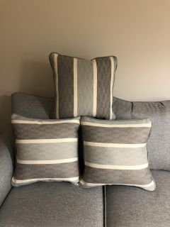 Three Brand New Couch Pillows