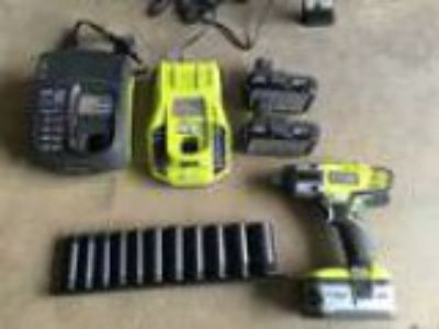 Tools and Ryobi -Volt Lithium-Ion in. Cordless Impact Wrenc