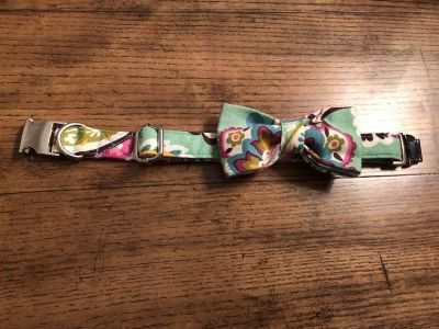 Boutique Dog Collar w/ Bow Tie - Brand New