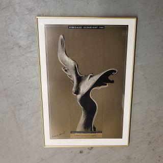 Vintage Signed Richard Hunt Hybrid Muse Poster
