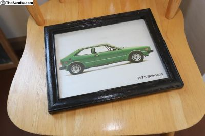 Framed 1975 Scirocco print