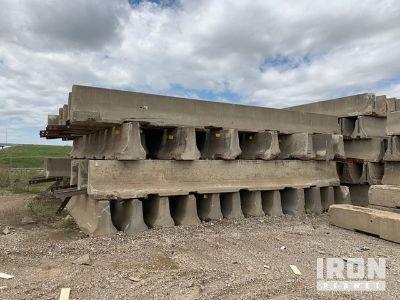 Lot of 30' Bolt Down Concrete Barriers