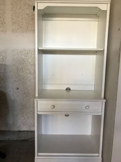 Pottery Barn Bookcase and Media cabinet