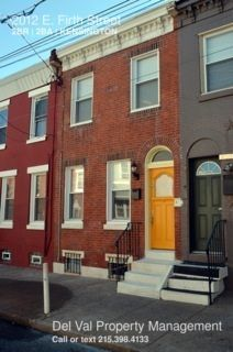 Nicely Renovated 2-Bedroom Row Home for Rent - 2012 E. Firth Street
