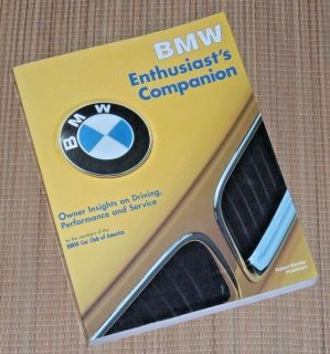Vintage 1995 BMW Enthusiasts Companion SoftCover Manual Book by Bentley 325iC 850CSi