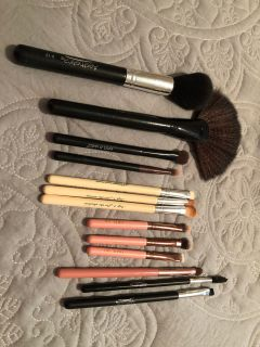 Various makeup brushes