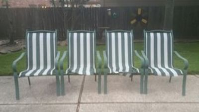 Aluminum Patio Sling Chairs
