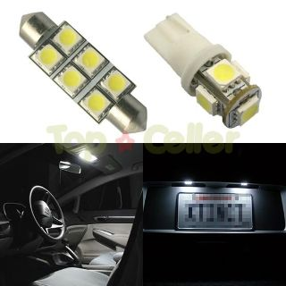 Find 6 White LED Package Deal Combo For Map Dome License Plate Lights T10 194 + 211-2 motorcycle in Cupertino, CA, US, for US $15.99
