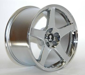 Sell AFS Mustang 03 COBRA 18 X 9 two wheels CHROME 2003 fit 95 - 2004 motorcycle in Canoga Park, California, US, for US $475.00