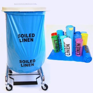 laundry carts or lidded trash can or recycle