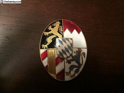 Vintage Ceramic Bavarian Crest Badge Emblem