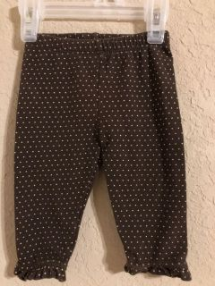 Baby Gap Brown Dot Leggings Pants. Nice Condition. Size 3-6 Months