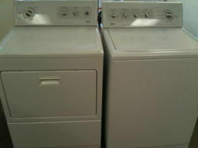 KITCHEN AID WASHER & DRYER SET HEAVY DUTY SUPER CAPACITY REFURB WARNTY