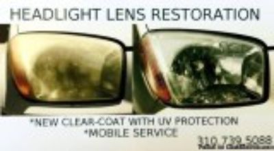 HEADLIGHT RESTORATION - Mobile Service (LA COUNTY)