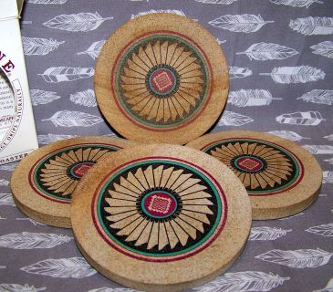 COASTERS, Southwest Design, Real Sandstone, Vintage 1990s Thirstystone