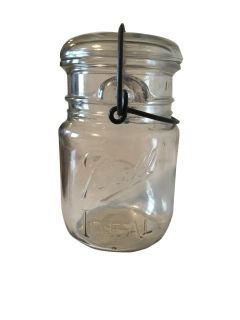 Ball Ideal Canning Jar With Wire Bale Wrap
