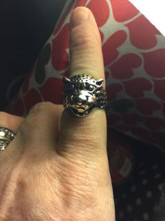 Unisex stainless steel size 8 leopard ring non rust new