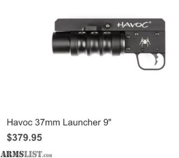 "For Sale: HAVOC 9"" LAUNCHER WTIH 12GA ADAPTER"