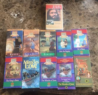 11 Christian VHS tapes