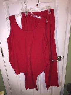 Avon Style L red 2 pc outfit EUC