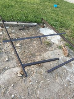Metal bed frame - had as queen size