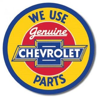 "Find WE USE GENUINE CHEVROLET PARTS NOSTALGIC ROUND STEEL SIGN CHEVY ""FREE SHIPPING!"" motorcycle in Brooksville, Florida, United States, for US $14.98"