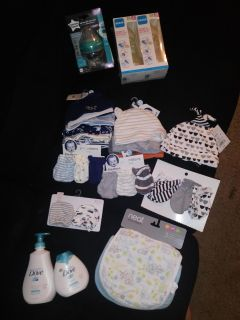 Assorted NEW baby items