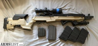 For Sale: Springfield M1A SOCOM II extended rail with Archangel Precision Stock