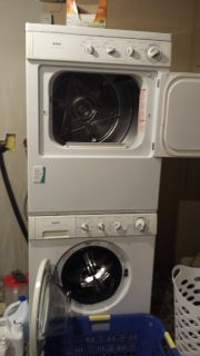 Kenmore stackable washer/dryer