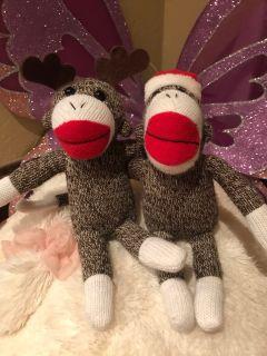 Christmas sock monkeys