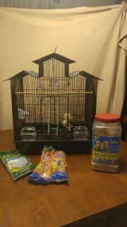 Parakeet Cage with extras