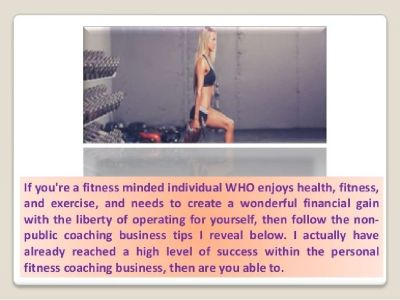 Personal training business tips that generate wealth