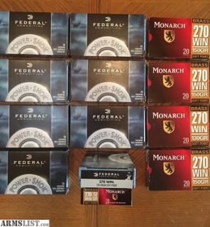 For Sale: .270 WIN ammo