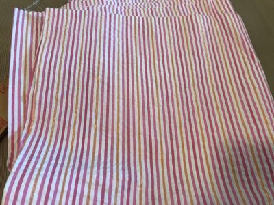 Vintage Pink Striped Fabric